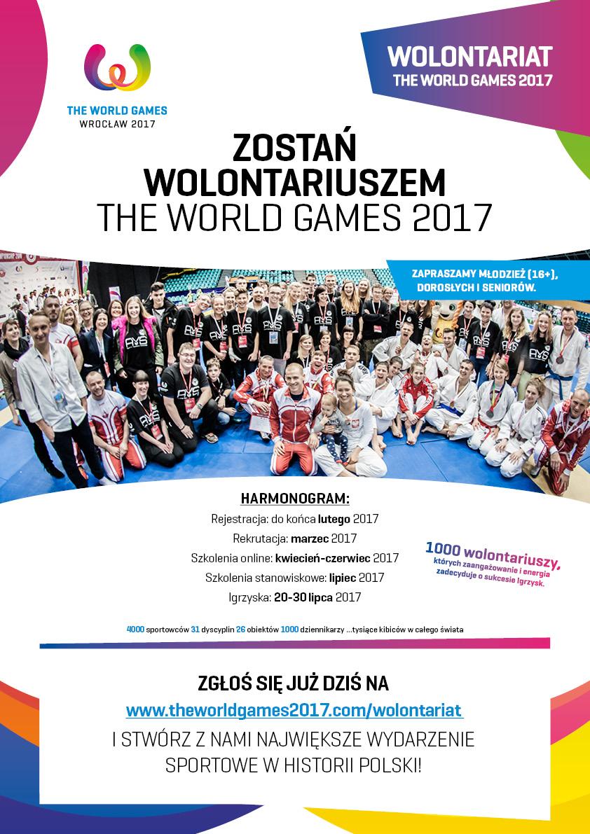 Wolontariat TWG2017 plakat Chcesz zostać wolontariuszem?  To jest Twój czas!